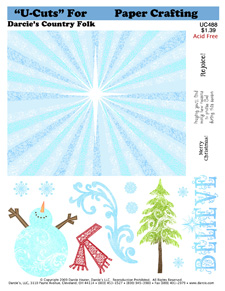 UC488 Flourish Snowman sm