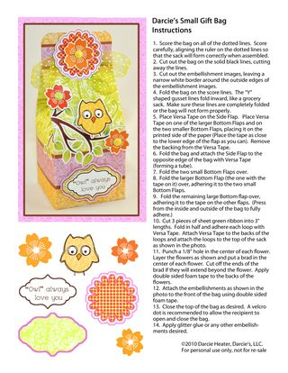Owl Bag Instructions