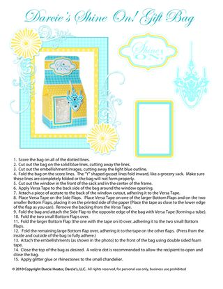 Gift Bag Instructions