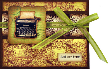 Darcies Sm Typewriter Card