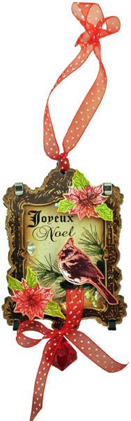 Cardinal Acrylic Ornmnt