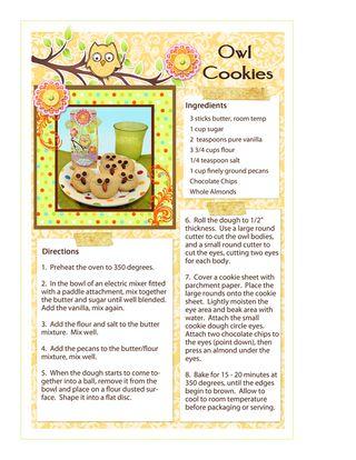 Owl Cookies Recipe lr