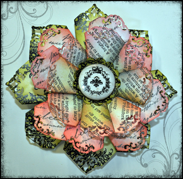 Paper Flower with tin pin