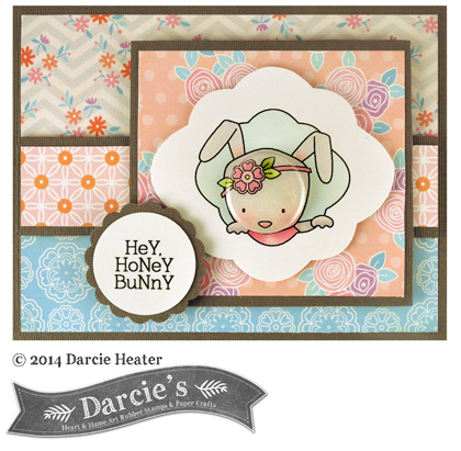 Darcies Honey Bunny Card