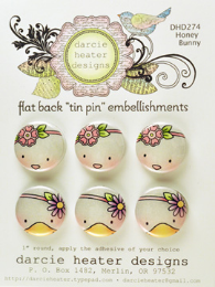 Darcies Bunny Tin Pins